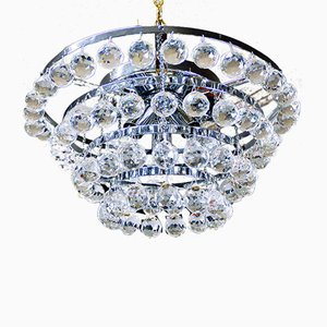 German Crystal Ceiling Lamp from Faustig, 1970s