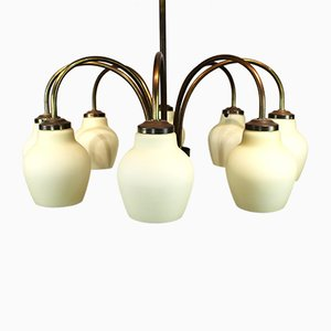 Brass Chandelier from Fog & Mørup, 1960s