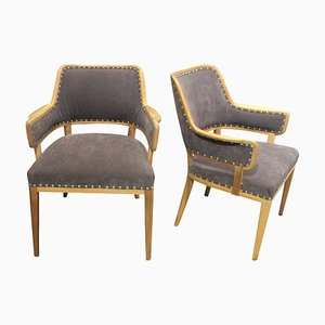 Mid-Century Swedish Dining Chairs by Carl Malmsten, Set of 2
