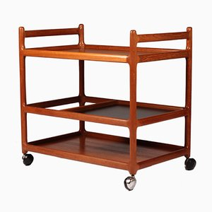 Mid-Century Danish Teak Trolley by Johannes Andersen for CFC Silkeborg