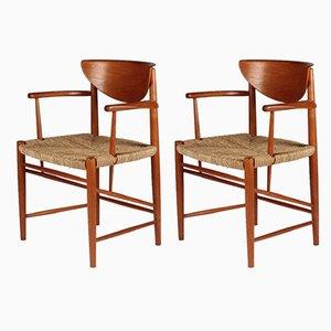 Mid-Century Esszimmerstühle aus Teak von Peter Hvidt & Orla Mølgaard-Nielsen für Søborg Møbelfabrik, 2er Set