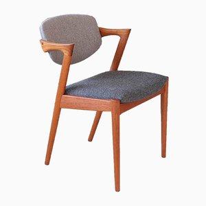 Dänischer Mid-Century Modell 42 Armlehnstuhl aus Teak von Kai Kristiansen für Schou Andersen