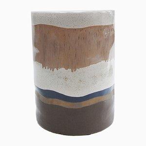 Schokoladenbraun glasierte Keramik von Gunter Lambert, 1990er