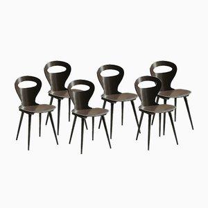 Chaises de Bistrot Modèle Fourmi de Baumann, années 60, Set de 6
