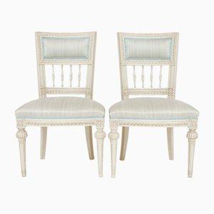 Antike gustavianische Beistellstühle von Olof Ericsson, 2er Set