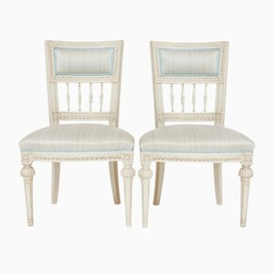 Antique Gustavian Side Chairs by Olof Ericsson, Set of 2