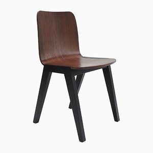 Matte Lacquer Teak Desk Chair from Gunter Lambert, 1990s