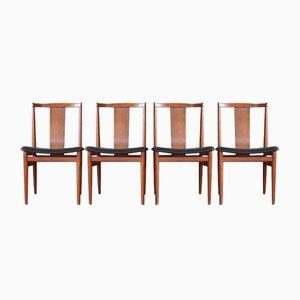 Dänische Mid-Century Esszimmerstühle aus Teak, 4er Set