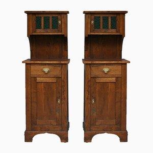 Antique Art Nouveau Cabinets, Set of 2