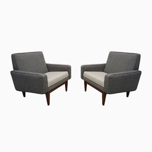 Gray and Cream Armchairs from Thonet, 1950s, Set of 2