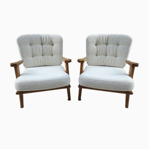 Mid-Century Lounge Chairs by Guillerme et Chambron for Votre Maison, 1960s, Set of 2