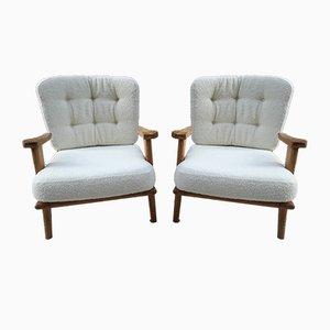 Mid-Century Sessel von Guillerme et Chambron für Votre Maison, 1960er, 2er Set