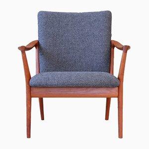 Norwegischer Mid-Century Sessel mit Gestell aus Teak