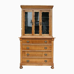 Antique Biedermeier Cherrywood Cupboard, 1850s