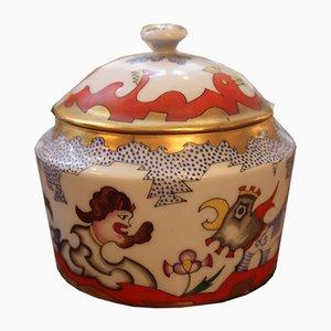 Caja de porcelana de Franz von Zülow para Augarten Porzellan, años 20