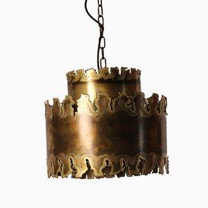 Lampe à Suspension Brutaliste en Laiton par Svend Aage Holm Sørensen, années 60