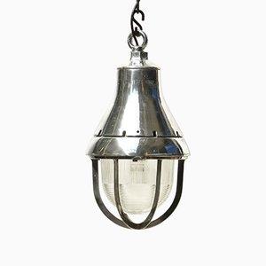 Vintage Industrial American Cast Aluminum Pendant Lamp, 1950s