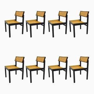 Modell 3100 Beistellstühle von Willy Guhl für Dietiker, 1950er, 8er Set