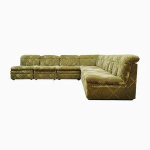 Vintage Green Velvet Modular Sofa, 1960s