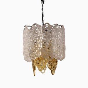 Mid-Century Italian Glass Pendant Lamp from Mazzega, 1950s