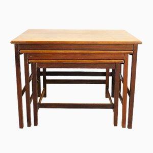 Tavolini ad incastro in teak, anni '60