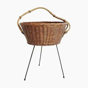Mid-Century Italian Knitting Basket, 1950s