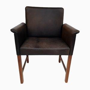 Dänischer Armlehnstuhl aus Palisander & Leder von Hans Olsen für Skipper, 1960er