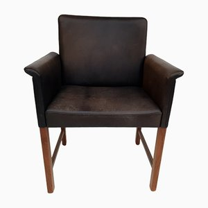Danish Rosewood and Leather Armchair by Hans Olsen for Skipper, 1960s