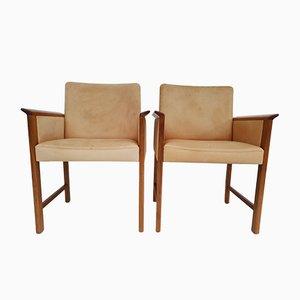 Dänische Armlehnstühle aus Teak & Leder von Hans Olsen für Skipper, 1960er, 2er Set