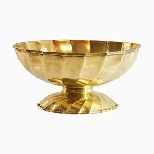 Large Italian Brass Bowl from Metal Art, 1950s