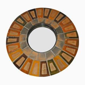 Spiegel mit Rahmen aus Keramik von Roger Capron, 1960er