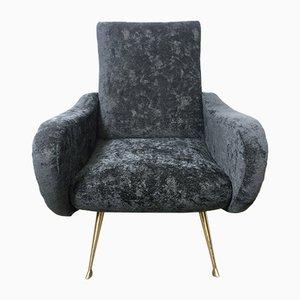 Vintage Italian Lounge Chair by Marco Zanuso, 1950s