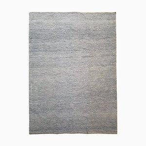 Indischer Kelim Teppich aus Wolle & Baumwolle in Blau & Beige, 1970er