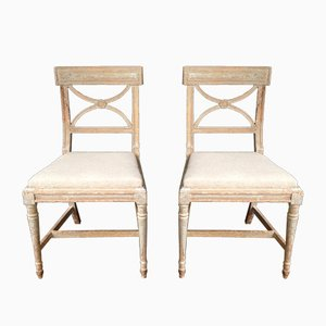 Antique Gustavian Swedish Bellman Dining Chairs, Set of 2