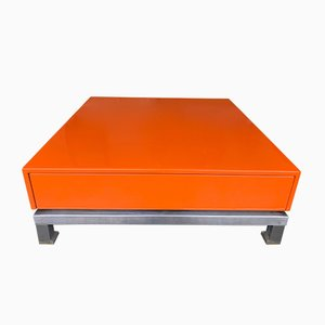 French Lacquered Coffee Table by Guy Lefevre, 1970s