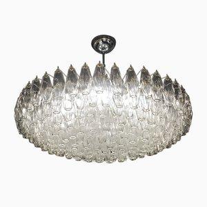 Lámpara de araña Poliedri de cristal de Murano, años 80