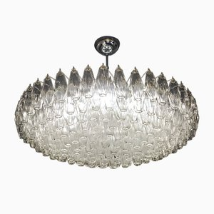 Murano Glass Poliedri Chandelier, 1980s