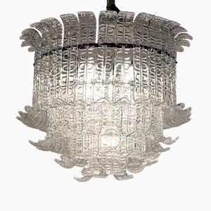 Lámpara de araña de cristal de Murano de Barovier & Toso, años 70