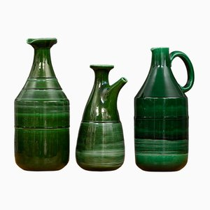 Jarras de cerámica de Ambrogio Pozzi para Ceramica Franco Pozzi, años 60. Juego de 3