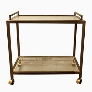 Italian Brass Bar Trolley, 1970s