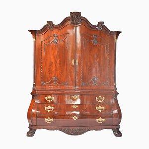 Antique Dutch Mahogany and Oak Cabinet
