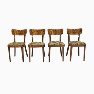 Vintage Art Déco Esszimmerstühle, 1960er, 4er Set