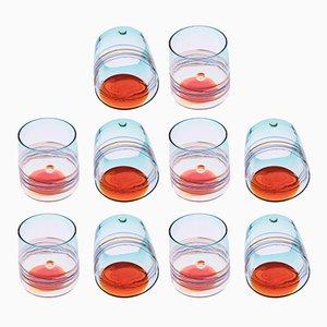 Bicchieri in vetro di Murano di Cenedese, anni '60, set di 10