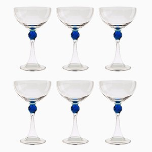 Murano Glass Martini or Champagne Glasses from Cenedese, 1960s, Set of 6