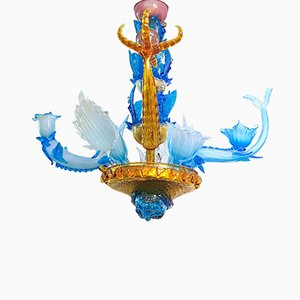 Lámpara de araña de Pino Signoretto, años 80