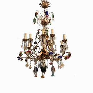 Large Murano Glass Chandelier, 1960s