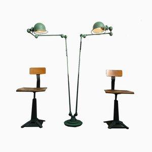 Lampadaire Industriel de Jieldé, années 50