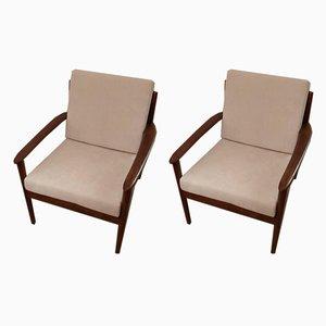 Sessel von Grete Jalk für Poul Jeppesens Møbelfabrik, 1950er, 2er Set