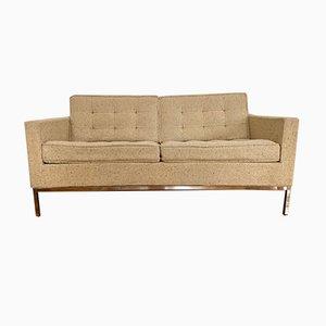 Sofá de dos plazas de lana de Florence Knoll Bassett para Knoll Inc. / Knoll International, años 60