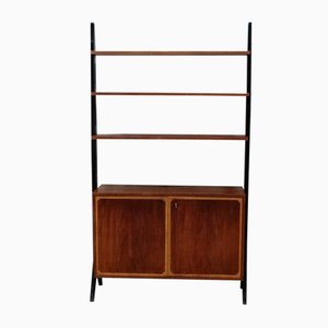 Vintage Brass and Teak Shelf by Bertil Fridhagen, 1950s